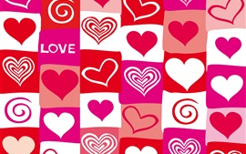 Preview wallpaper Red and purple love hearts, vector design