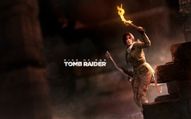 Preview wallpaper Rise of the Tomb Raider, Lara Croft, torch