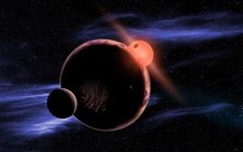 Aperçu fond d'écran Espace, le soleil, les planètes, les satellites planétaires
