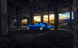 Preview wallpaper Subaru BRZ blue sport car rear view