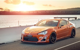 Preview wallpaper Toyota Scion FS-R orange supercar