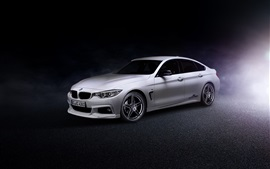 Preview wallpaper 2014 BMW 4-Series Gran Coupe F36 white car