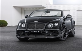 Startech 2015 Bentley Continental carro preto front view