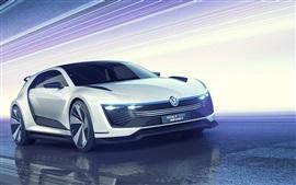 Aperçu fond d'écran 2,015 concept-car Volkswagen Golf GTE Sport