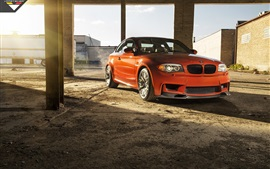 BMW série 1, M1 E82 orange car