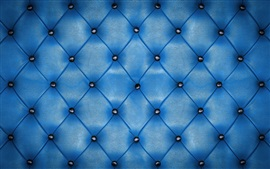 Preview wallpaper Blue leather, upholstery, texture