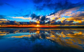 Preview wallpaper Cook Strait, Manakau, New Zealand, sunset, sea, clouds