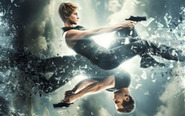 Preview wallpaper Divergent 2, Shailene Woodley, Theo James
