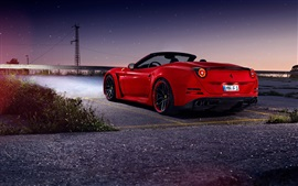 Preview wallpaper Ferrari California T red supercar, night, stars