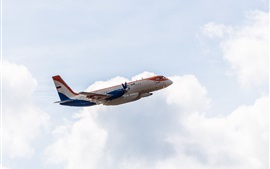 Preview wallpaper Ilyushin Il-114 passenger plane, flying, sky