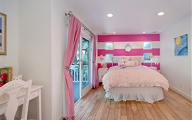 Interior design, bedroom, bed