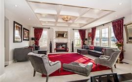 Sala de estar, casa de lujo