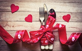 Corazones del amor, día de San Valentín, cinta