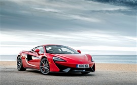 Preview wallpaper McLaren 570S red supercar