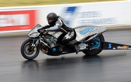 Preview wallpaper Motorcycle, drag racing, high speed