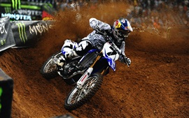 Preview wallpaper Yamaha, motorcycle, James Stewart, dirt, sports
