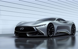 Preview wallpaper 2014 Infiniti GT concept silvery supercar