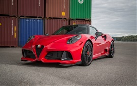Preview wallpaper 2015 Zender Alfa Romeo 4C red supercar front view
