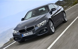 Preview wallpaper BMW fourth series black car speed