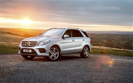 Preview wallpaper Mercedes-Benz GLE-Class W166 silver SUV car