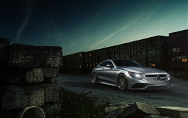 Preview wallpaper Mercedes-Benz S63 AMG coupe silver car
