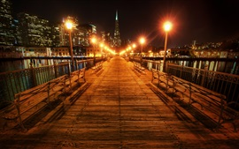 Preview wallpaper San Francisco, California, USA, beautiful night, bridge, lights