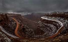 Preview wallpaper Shafer Canyon, Utah, USA, endless road