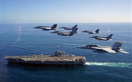 Preview wallpaper USS George Washington, fighter, sea
