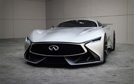 Preview wallpaper 2014 Infiniti Vision Gran Turismo concept supercar front view