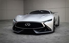 2 014 Инфинити Видение Gran Turismo Концепция вид спереди суперкар