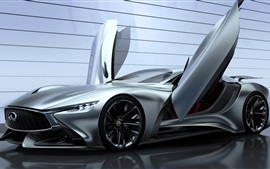 Preview wallpaper 2014 Infiniti Vision Gran Turismo concept supercar, wings