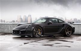Aperçu fond d'écran 2,014 Porsche 911 Carrera Turbo, Stinger GTR 991 de voiture noire