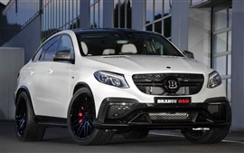 Preview wallpaper 2015 Brabus 850, Mercedes-Benz C292, white car