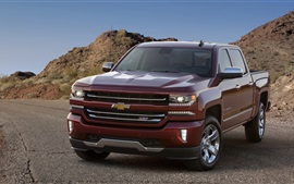 Preview wallpaper 2015 Chevrolet Silverado LTZ Z71 brown car