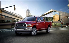 Preview wallpaper 2015 Dodge Ram 2500 red color car