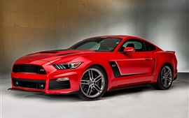 Preview wallpaper 2015 Ford Mustang red supercar side view