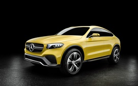 Preview wallpaper 2015 Mercedes-Benz Concept GLC yellow concept car