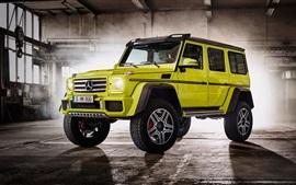 2 015 Mercedes-Benz G500 W463 зеленый внедорожник автомобиль