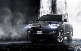 Preview wallpaper 2015 Toyota Land Cruiser 200 JP-spec black car
