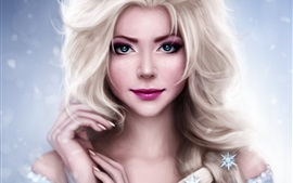 Preview wallpaper Beautiful princess, Frozen, Elsa, art drawing