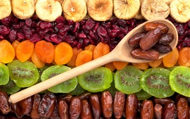Dried fruit, kiwi, apricots, figs
