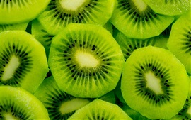 Preview wallpaper Fresh fruit, green kiwi slice