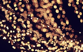 Preview wallpaper Lights, bokeh, evening, night, holidays