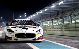 Preview wallpaper Maserati GranTurismo MC GT4 race car front view