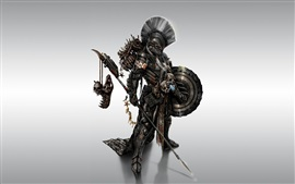 Metal-armed monster fighters