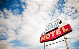 Preview wallpaper Sky motel in USA
