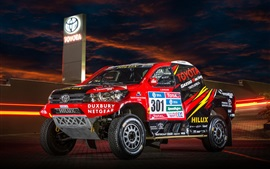 Preview wallpaper Toyota Hilux SUV car, Dakar Rally