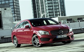 2015 Mercedes-Benz CLA 250 coches de color rojo