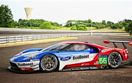 Preview wallpaper 2016 Ford GT race car side view