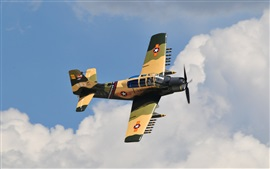 А-1Е Skyraider боец, атака, небо